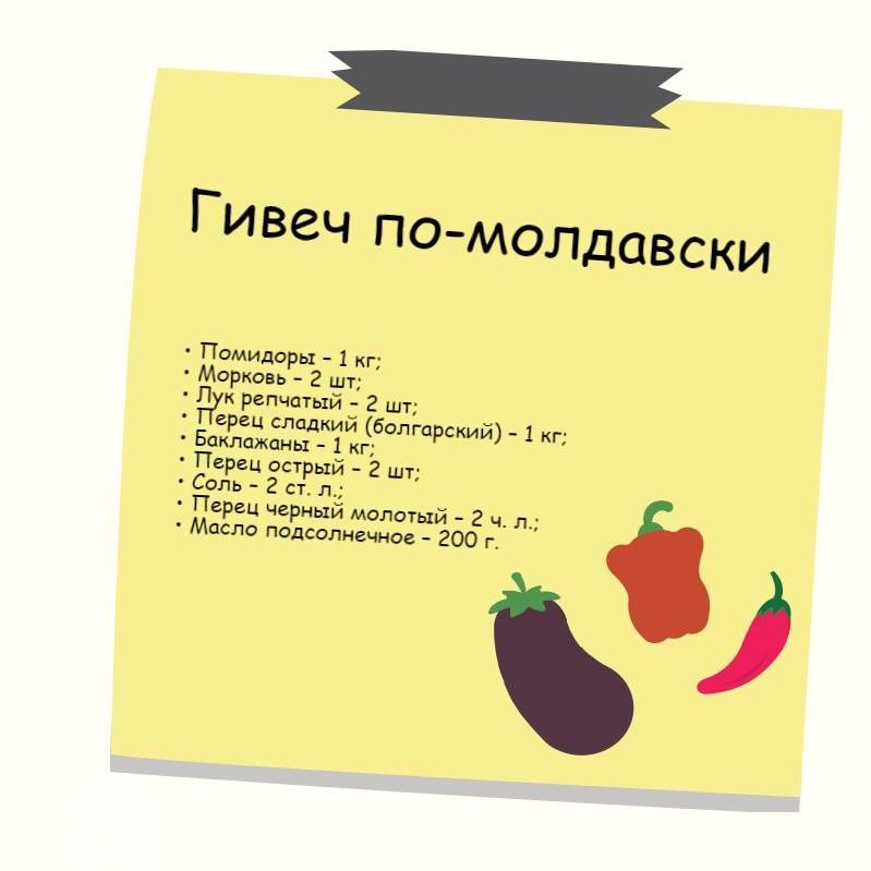 рецепт гивеча