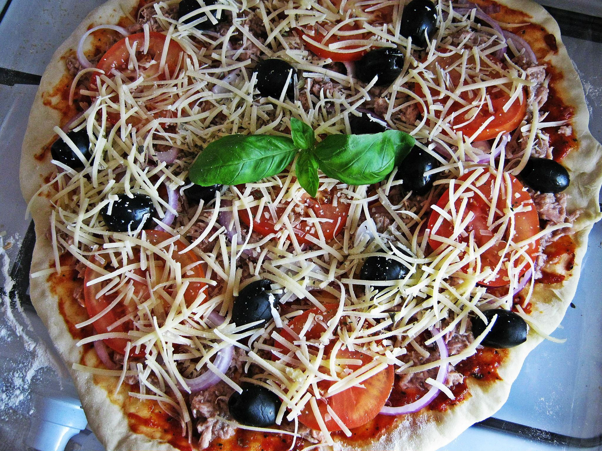 7 сырая пицца туна