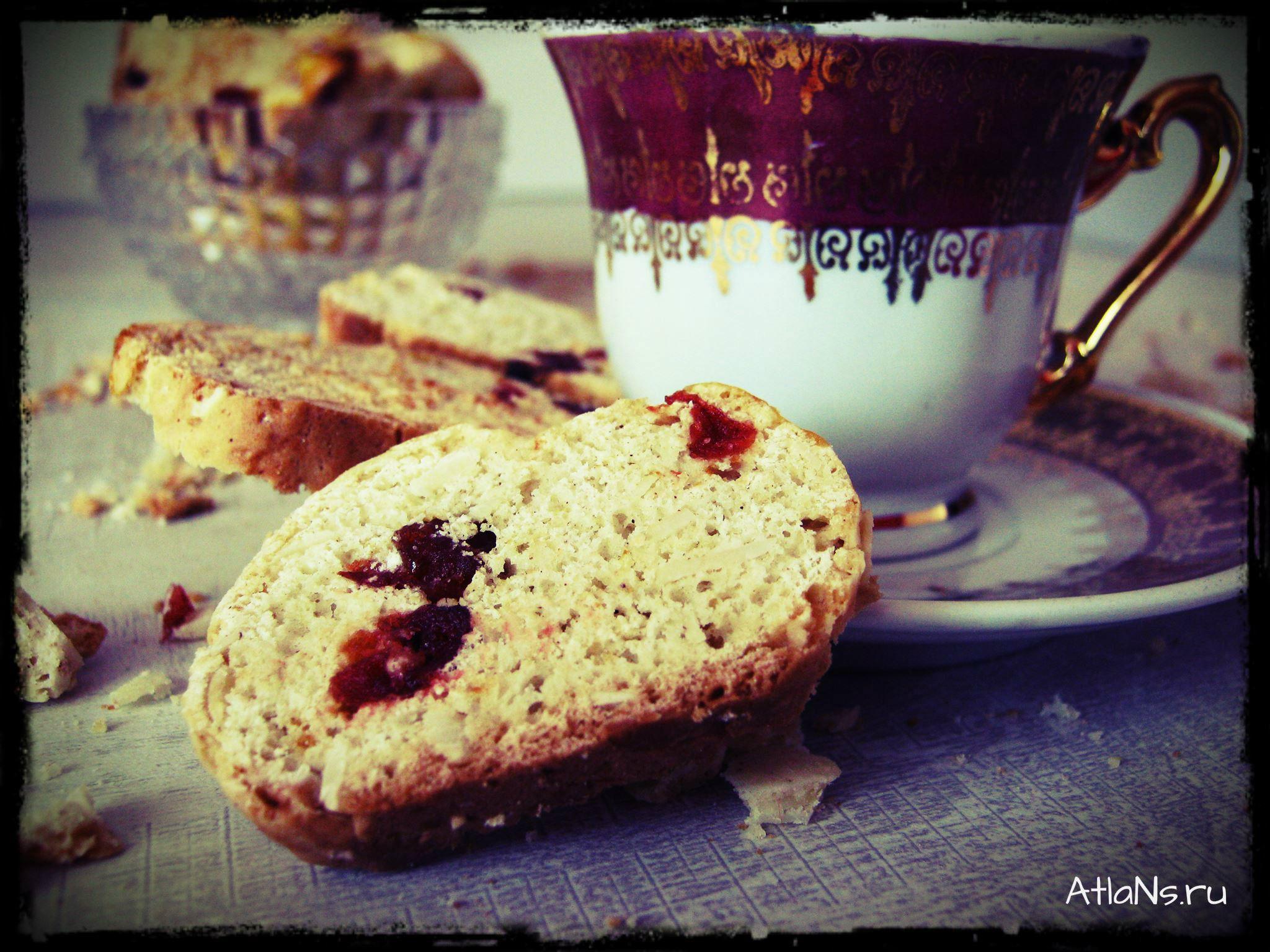 8 кантучини с кофе