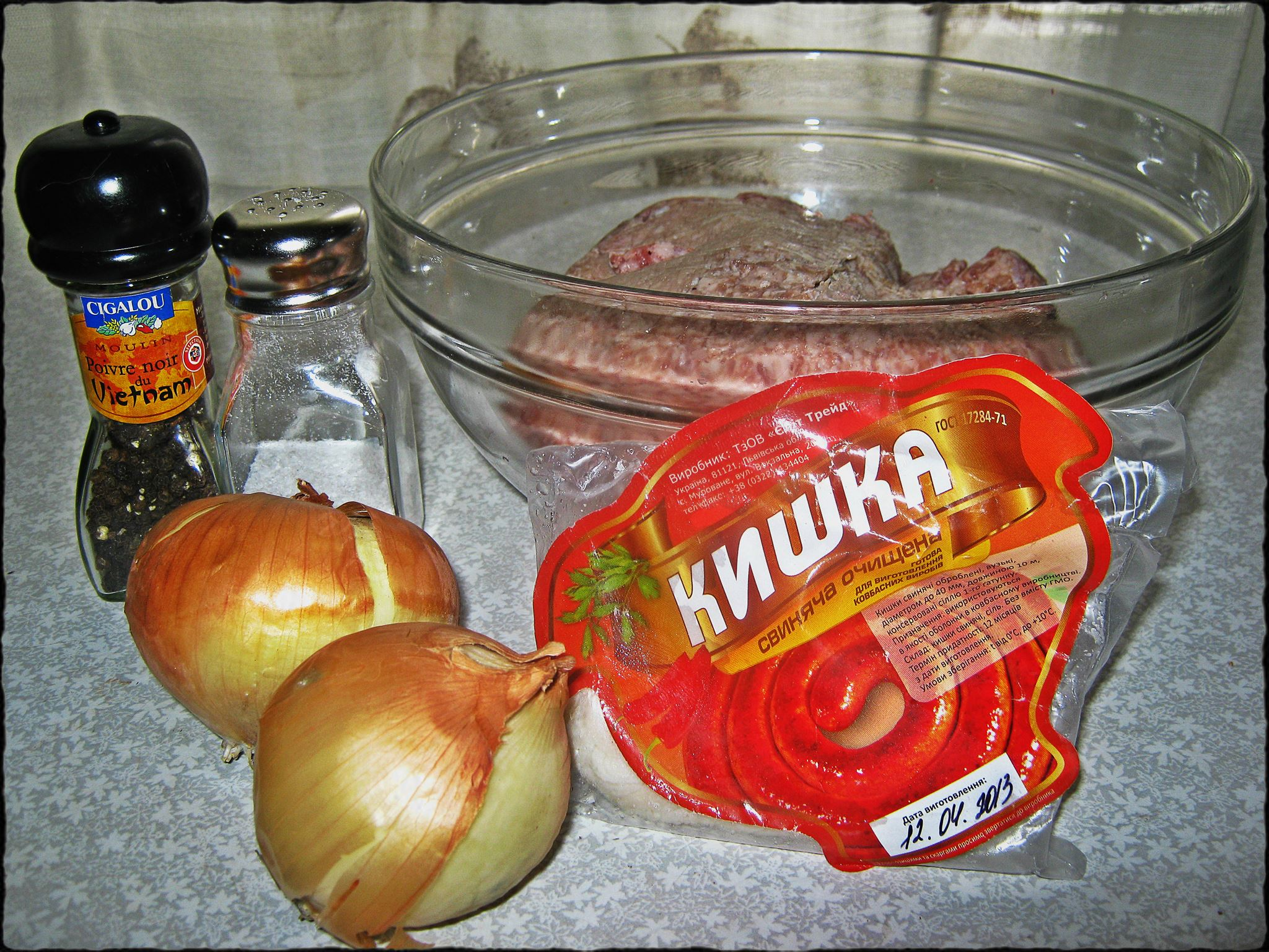 1 ингредиенты для колбасок
